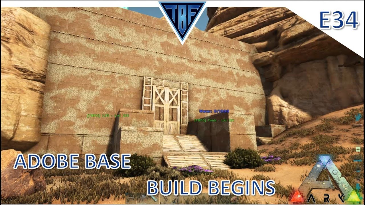 Desert Base Build and Double Ankys! Ark Survival Evolved Modded Story Cluster - Scorched Earth E34