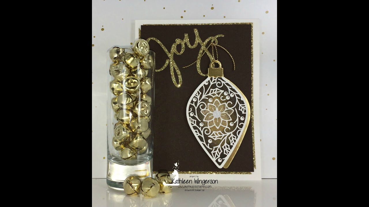 masculine christmas card stampin up embellished ornaments 10 26 2015