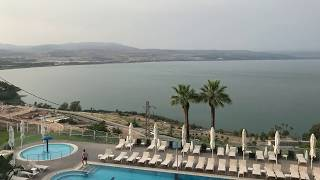 A tour of the Golan Hotel and the Sea of Galilee Views in Tiberias Israel