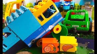 Машинки для детей - Авария на дороге! ЛЕГО Дупло мультики с игрушками для ребенка. Розыгрыш ИГРУШЕК!