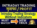 Most Profitable and Simple Intraday Trading Strategy Without Indicators || Market Sunrisers