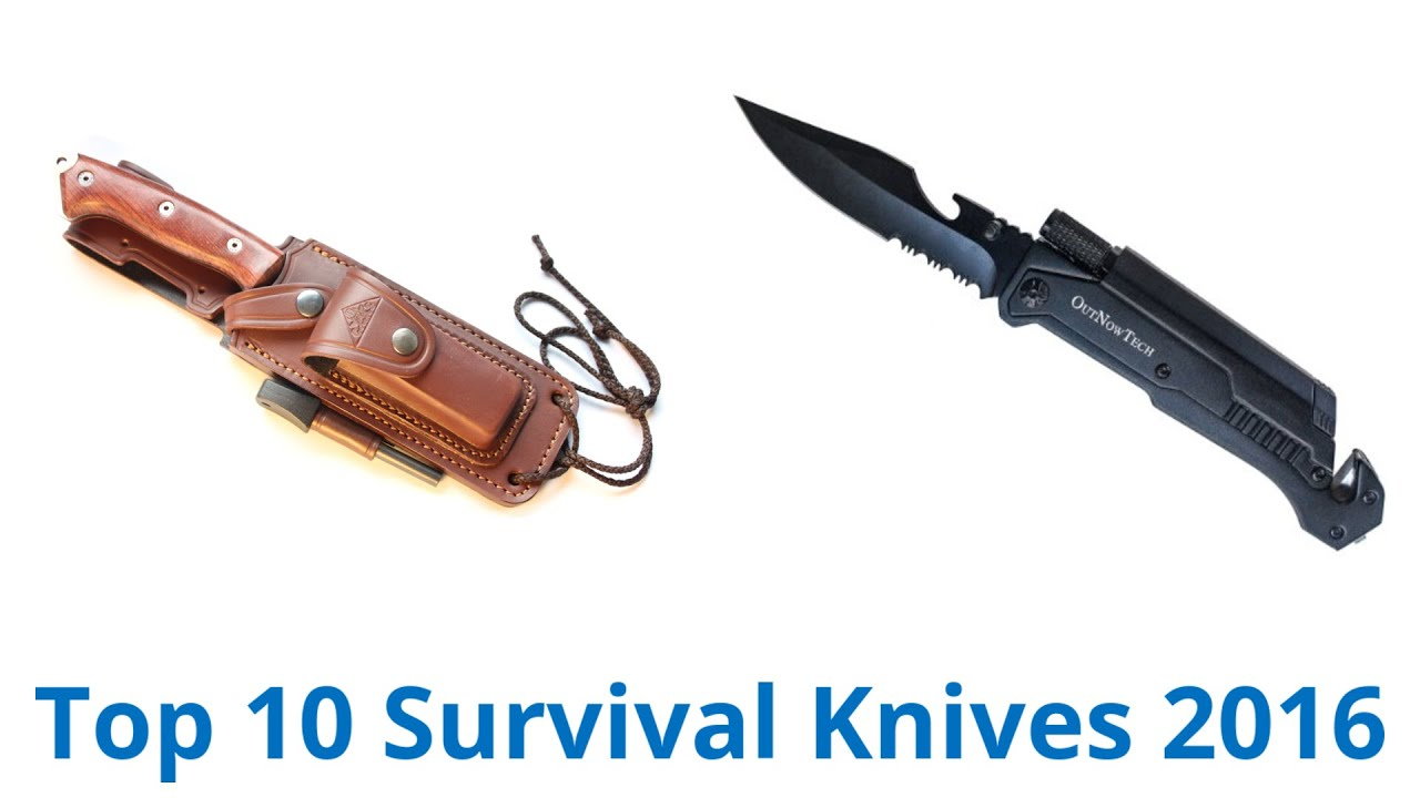 10 Best Survival Knives 2016 - YouTube