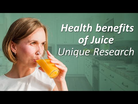 Spiritual research on the effect of drinking fruit juice