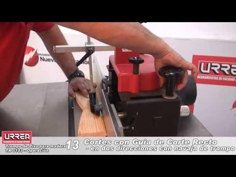 Trompo de piso para madera URREA TR1103  Operación