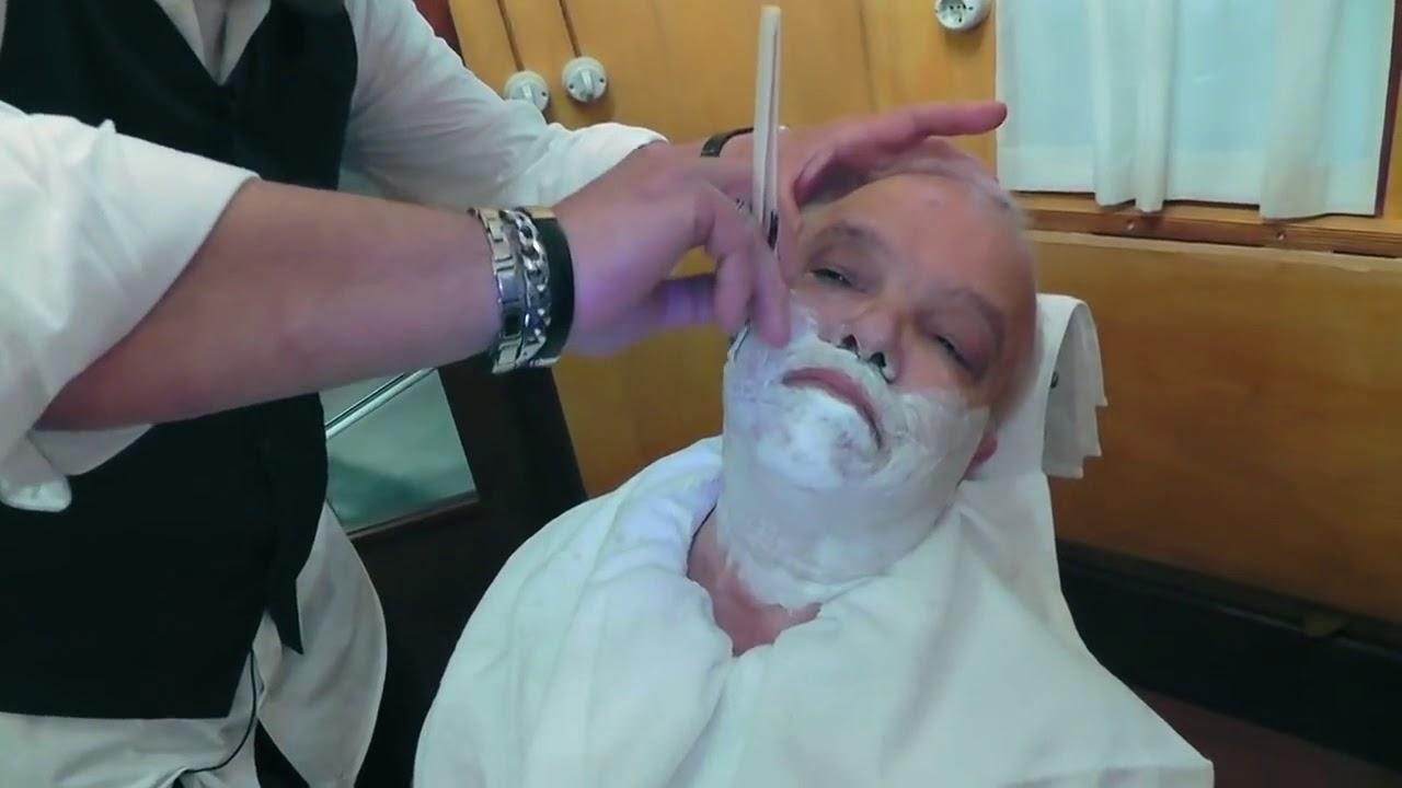 Rasoio a mano libera, Migni Luigi fa la barba a mastro Livi