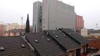 Nevando a tope en rubi ( barcelona )
