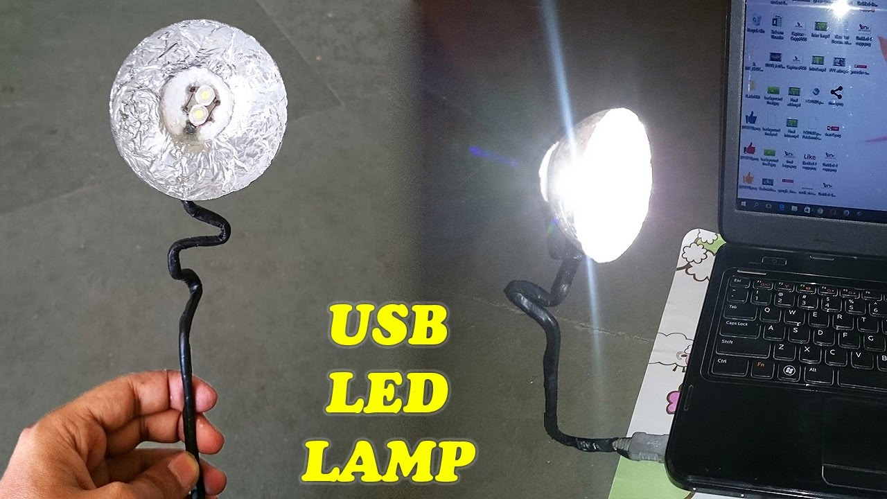 How To Make A USB LED Light / Lamp At Home