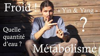 Combien d'eau ? métabolisme , froid, grossir avec les fruits,  J3 TI 2015- www.regenere.org