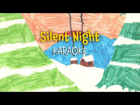 Silent night  | Christmas Carols - lyrics video for karaoke