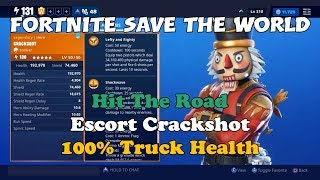 115) Fortnite Save The World - Hit The Road Escort Crackshot - 100% Truck Health!