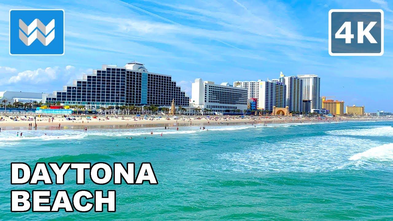 Download [4K] Daytona Beach, Florida USA 2021 Spring Break Walking Tour & Travel Guide 🎧 Binaural Sound