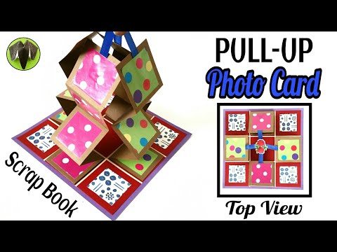 Pull-Up Photo Accordion Card for Scrap Book - DIY Tutorial by Paper Folds - 733