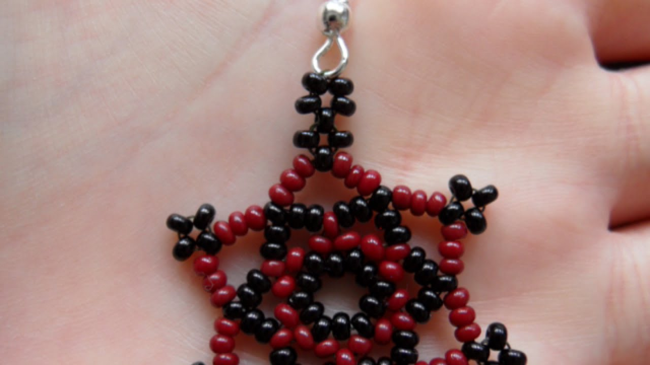 How To Make Cute Star Diy Shaped Beaded Earrings Tutorial Style You