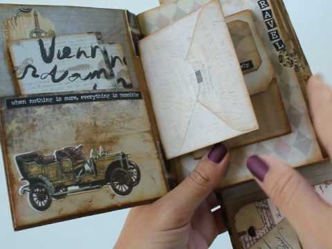 Vintage Maps Belted Travel Mini-Album