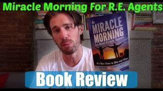 Miracle Morning for Real Estate Agents by Hal Elrod (Book Review)