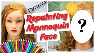 REPAINTING HAIRDRESSERS MANNEQUIN HEAD - Custom Doll Makeover by Poppen Atelier