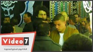 سعد سمير أحمد فتحى وحجازى فى عزاء والد أبو تريكة