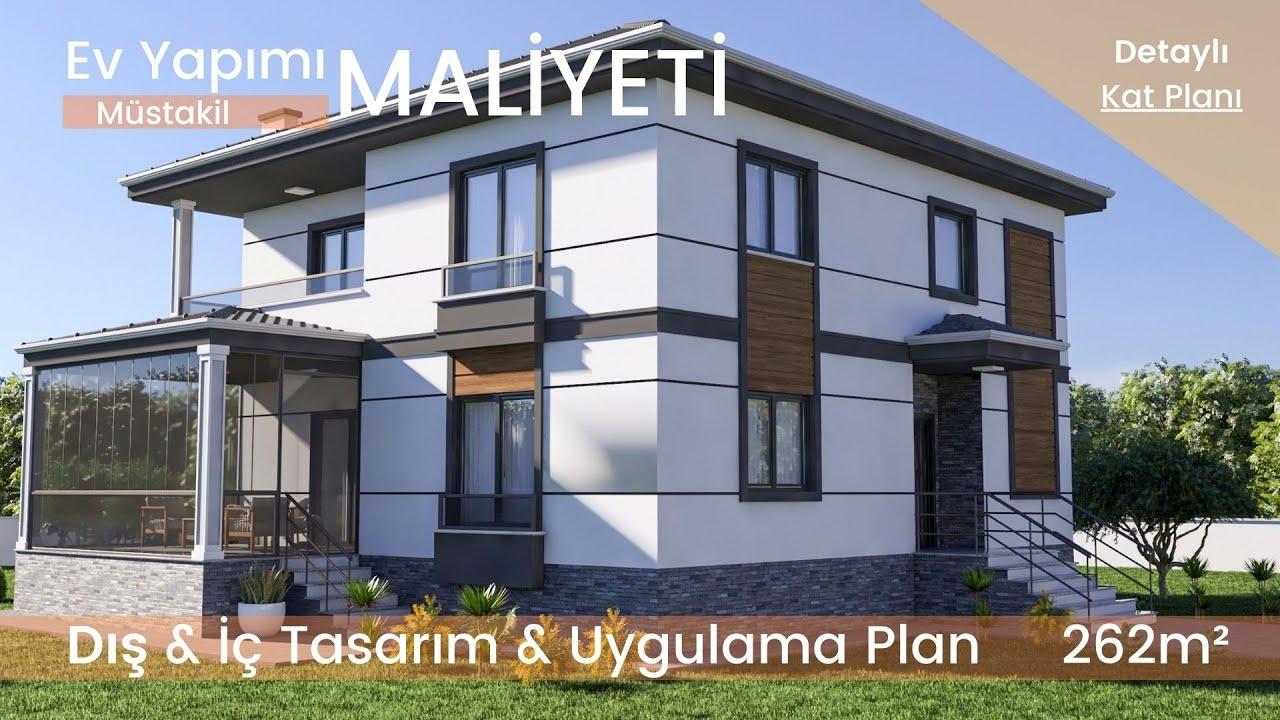2021 Yeni Tasarımı İle, Sadeliğin İhtişamı Dubleks Ev Modeli ( Ev Yapımı Maliyeti İle )