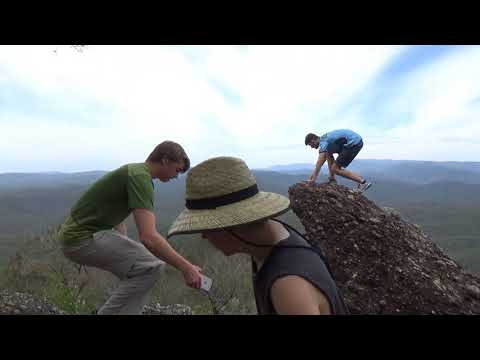 Climbing The Castle in Morton National Park