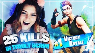 We got 25 kills in Tfault scrims... (Fortnite: Battle Royale) | KittyPlays