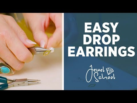 How to Make Easy Drop Earrings | Jewelry 101