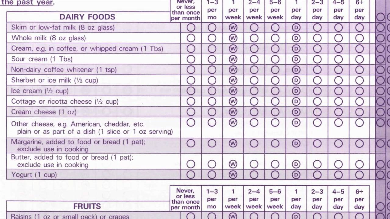 surveys about food moment 2 nurses health study first food frequency 6218