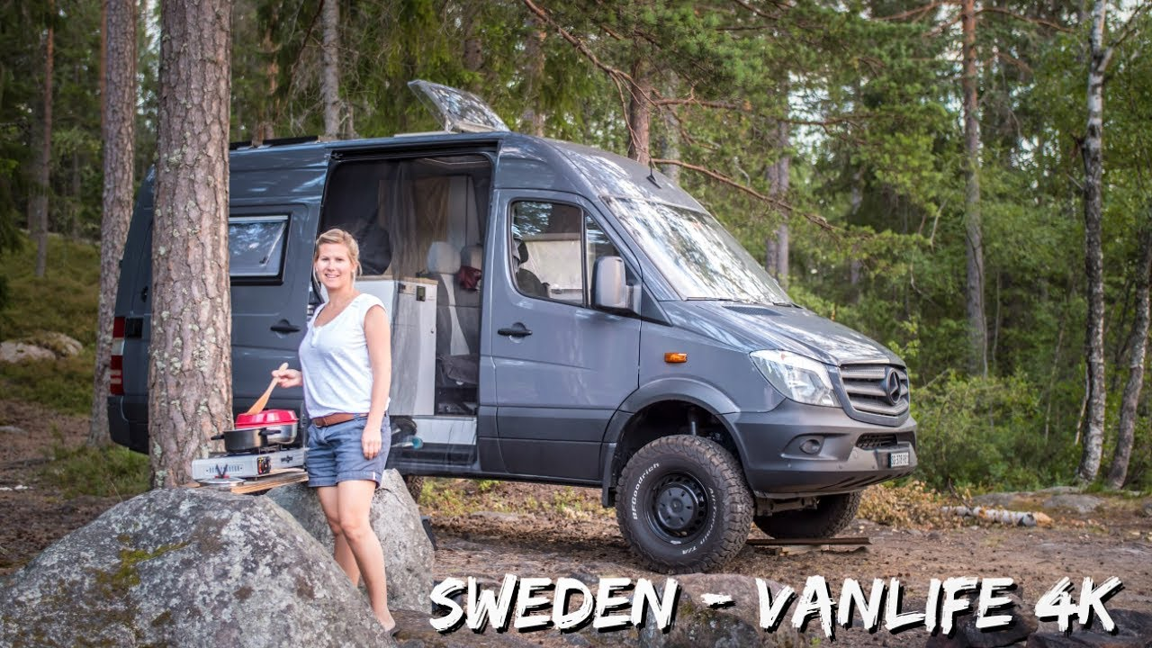 Sweden Van Life With A 4x4 Mb Sprinter Camper Van 4k Camperx Youtube