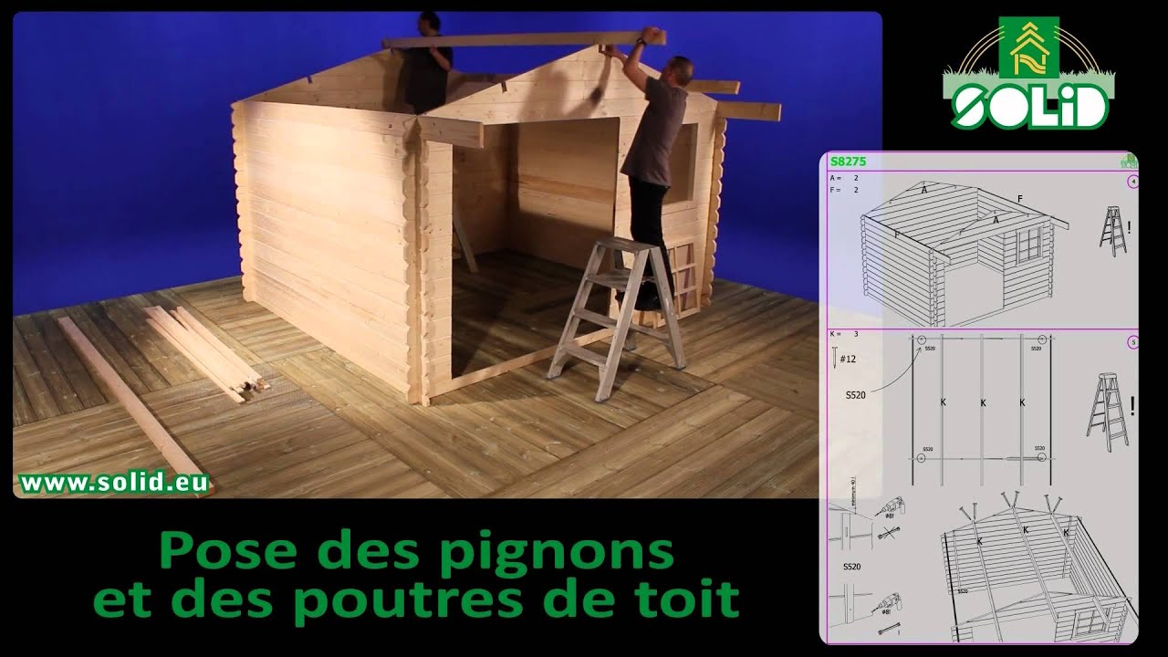 ... zelf je SOLID blokhut - build your own SOLID garden shed - YouTube