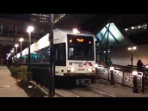 Jersey City, New Jersey - Hudson Bergen Light Rail Departs Pavonia-Newport Hyperlapse HD (2015)