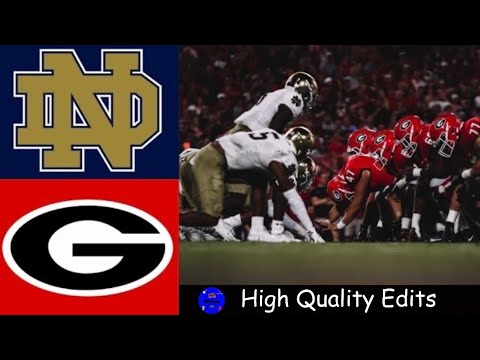 #7 Notre Dame vs #3 Georgia Highlights | NCAAF Week 4 | College Football Highlights