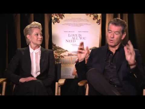 Interview with Pierce Brosnan and Trine Dyrholm - Love Is All You Need - Just Seen It