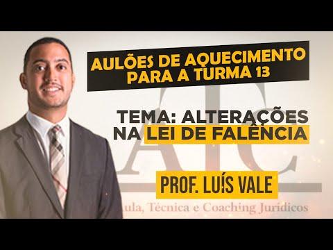Aulão Especial - Alterações na Lei de Falência - Prof. Luís Vale (29-01-21)