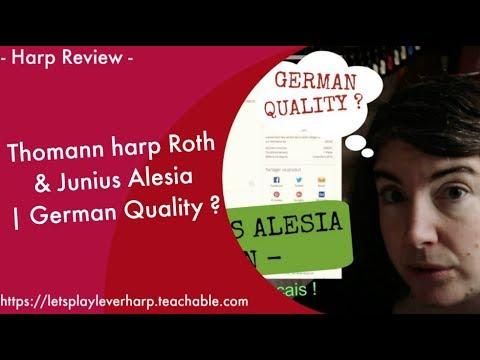 🍀 Lever Harp Review - Thomann harp Roth & Junius Alesia | German Quality ?
