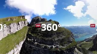 Slacklinen zwischen den Churfirsten in 360°