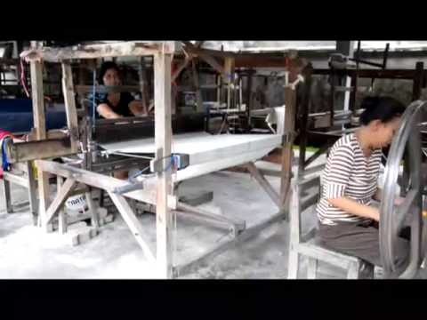 Making Ikat fabric - Gianyar, Bali