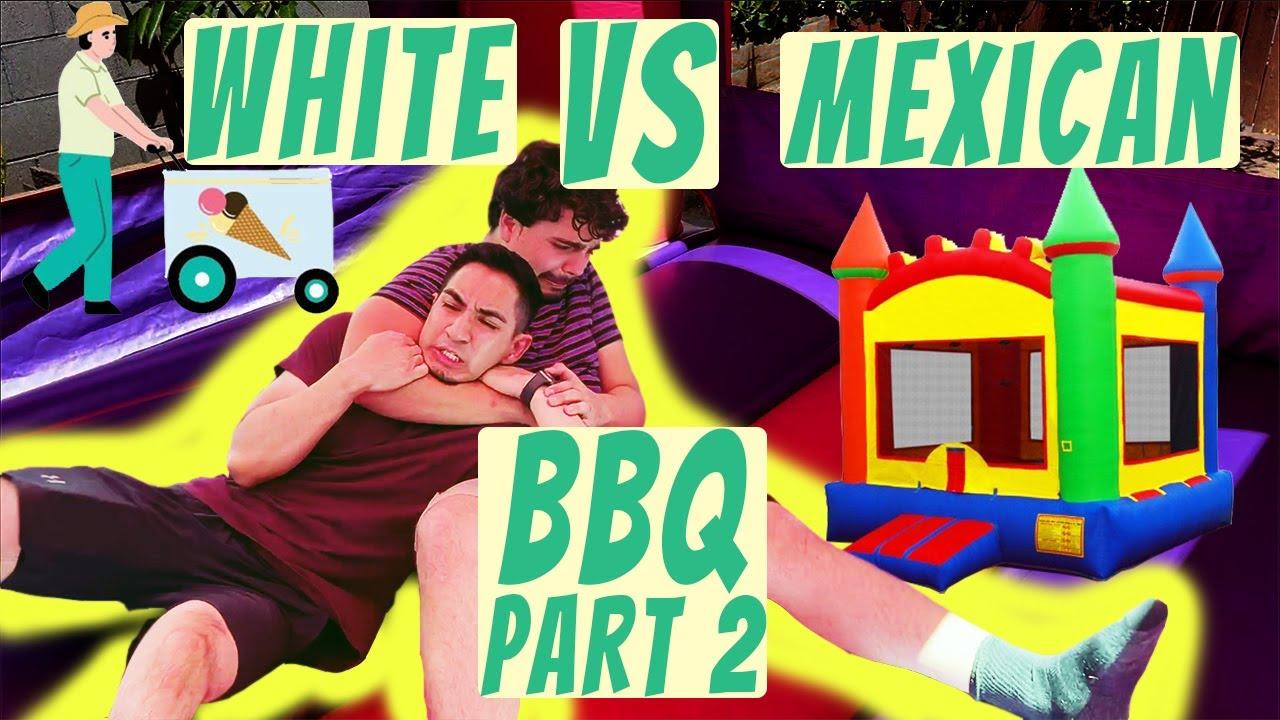 White vs Mexicans BBQ PART 2   MrChuy FT The Crazy Gorilla