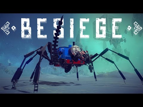 Besiege Best Creations - Thomas The People Eater! - Bombs as Wheels? - Besiege Gameplay Highlights