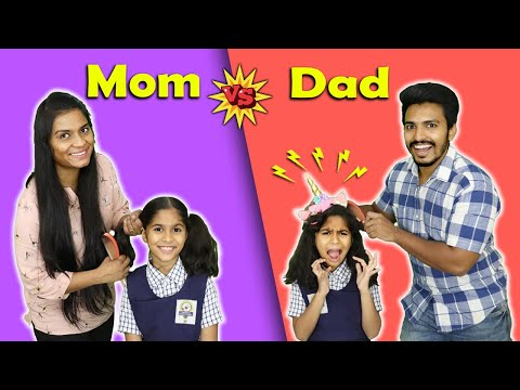 Mom Vs Dad Funny Video | Pari's Lifestyle Moral Story