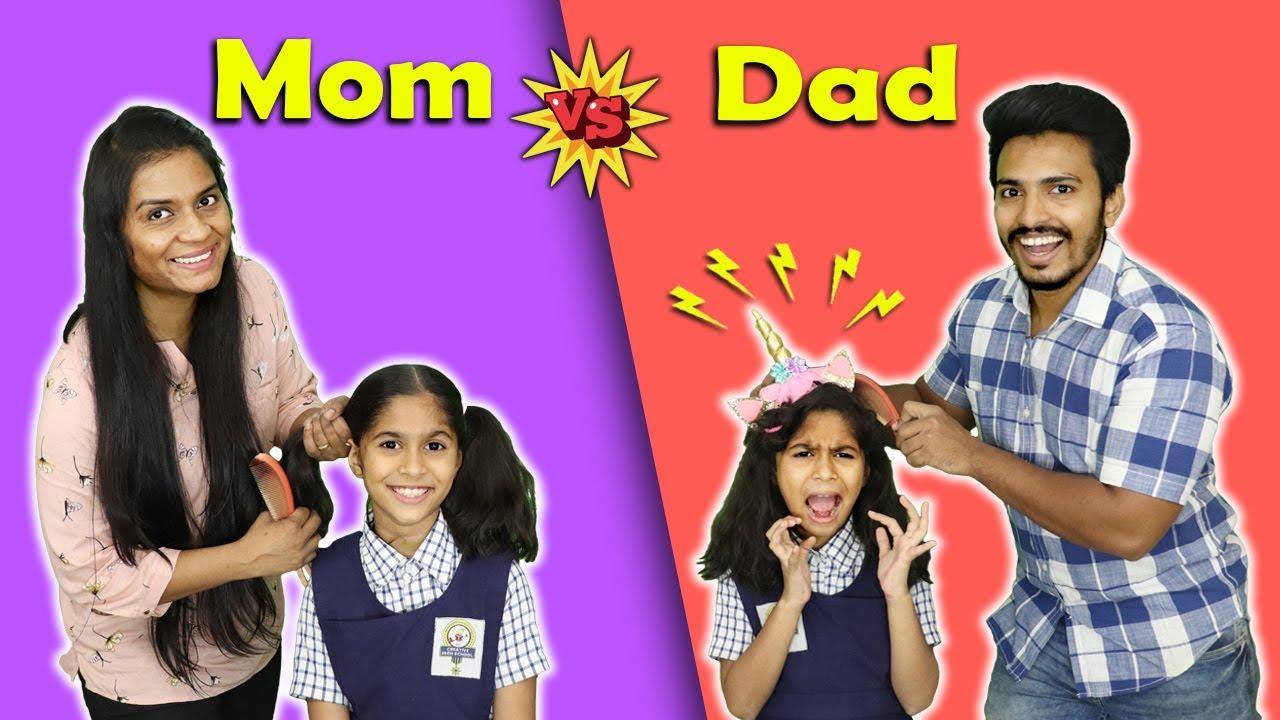 Mom Vs Dad Funny Video   Pari's Lifestyle Moral Story