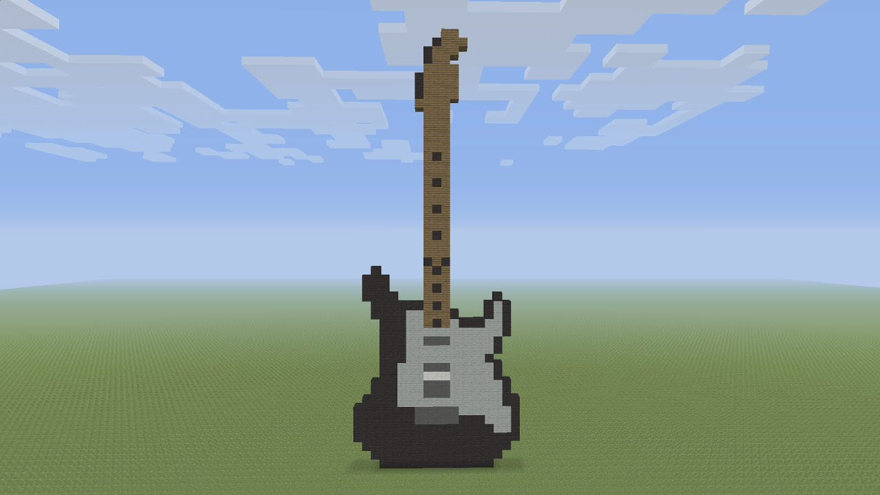 How To Build A Guitar In Minecraft
