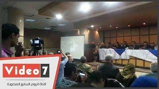 سامح عاشور يعرض فيديوهات لمنتصر الزيات خلال مشاركته باعتصام رابعة
