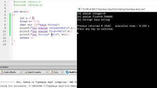 Cetak Isi variabel dengan Tipe data berbeda di Bahasa C [Format Specifier]#Part 3