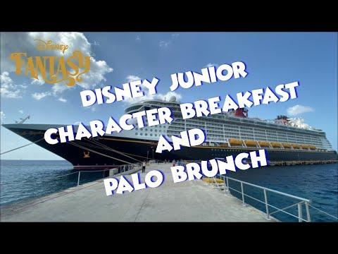 Disney Cruise Line   Disney Junior Character Breakfast   Palo Brunch Vlog 3