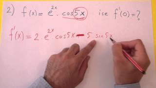 Türev Üç Renk Şenol Hoca Matematik