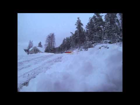 Audi A4 DTM First snow with GoPro Hero 3