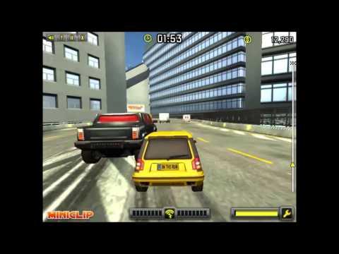 Мультики про машинки. Таксі та жовта машинка їздить по місту