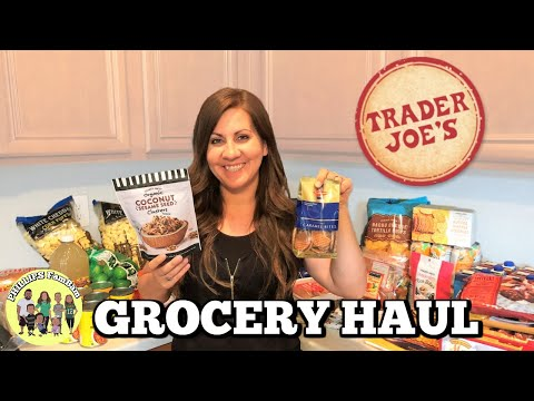 MASSIVE TRADER JOE'S GROCERY HAUL on a $200 BUDGET | SHOP WITH ME | PHILLIPS FamBam Hauls