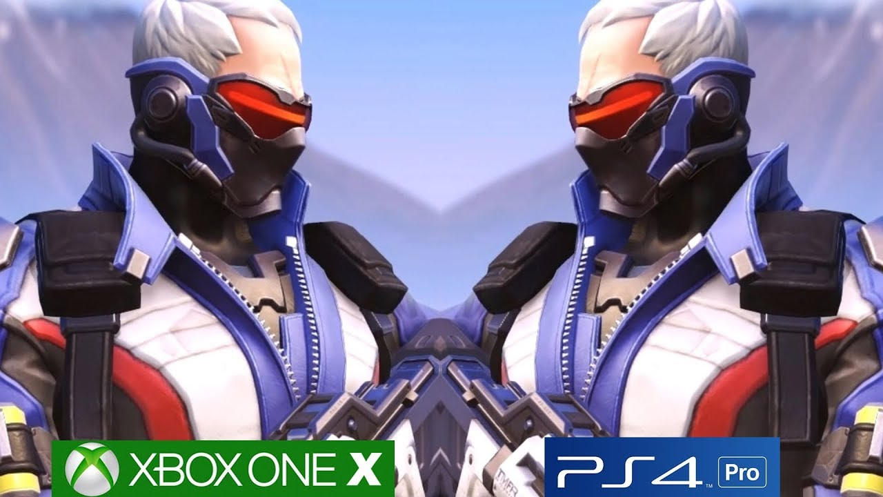Overwatch Xbox One X Vs PS4 PRO Graphics Comparison 4K