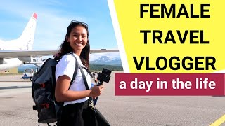 Day in the Life of a full-time FEMALE TRAVEL VLOGGER (digital nomad)