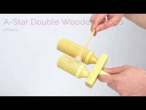 AStar Double Wooden Agogo